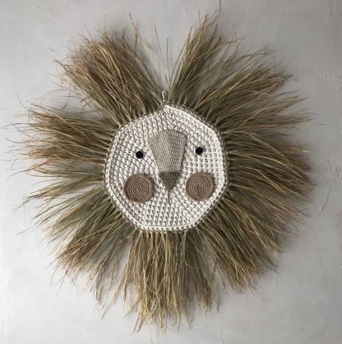 tapiz león crochet